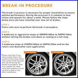 Front + Rear Rotors withCeramic Pads Elite Brakes 06 2017 Fit Dodge Ram 1500