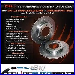 Front & Rear Slotted Drilled Disc Rotors + Bendix GCT Brake Pads BA BF FG Falcon