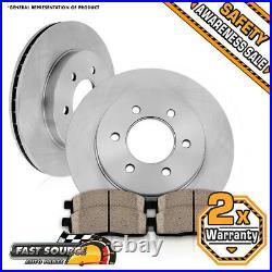 Front Rotors Ceramic Pads For Escalade Silverado Tahoe Savana Sierra Suburban