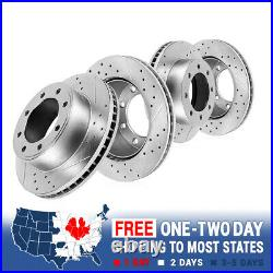 Front and Rear Drill Slot Brake Rotors For 2005 2010 2011 2012 Ford F250 F350