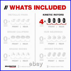 Front and Rear Drill Slot Brake Rotors For Ford Explorer Flex Taurus MKS MKT