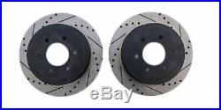 Front and Rear Kit Drilled & Slotted Brake Rotors with Ceramic Pads