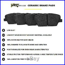 Full Kit Black Hart Drilled Slotted Brake Rotors And Ceramic Pad Bhcc. 62053.02