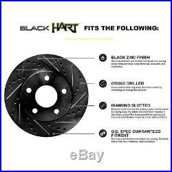 Full Kit Black Hart Drilled Slotted Brake Rotors And Ceramic Pad Bhcc. 62059.02