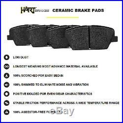 Full Kit Black Hart Drilled Slotted Brake Rotors And Ceramic Pad Bhcc. 67069.02
