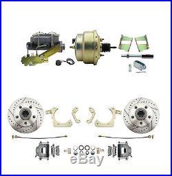 GM 1959-64 Power Brake Disc Brake Conversion Kit, Drilled & Slotted