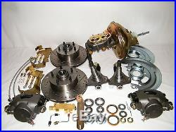 GM 4 Wheel Disc Brake Conversion Kit Drilled & Slotted Rotors A, F, X Body