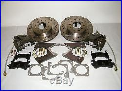 GM G-Body Rear Disc Brake Conversion Kit Drilled & Slotted Rotors 4 Wheel