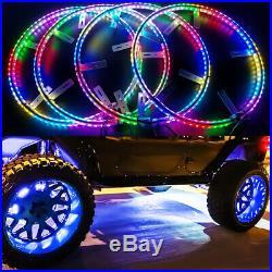 LED Wheel Lights Moving Color Kit Wireless for Jeep Wrangler Rims TJ JK JL CJ