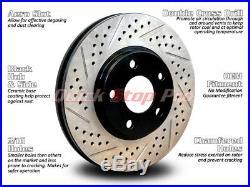 NIS056SD Juke 14-18 Nismo RS Performance Brake Rotor Double Drill + Diamond Slot