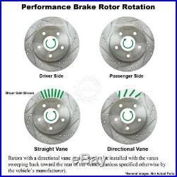 Nakamoto Premium Ceramic Brake Pad & Performance Cross Drilled Slotted Rotor Kit