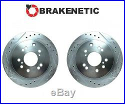 REAR BRAKENETIC SPORT Drill Slot Brake Rotors Z32 300ZX Conversion 4/5LUG