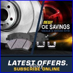 REAR Drill Slot BRAKE Rotors For Escalade Express Sierra Tahoe Yukon 2WD 4WD