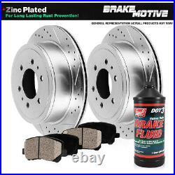 Rear Drill Brake Rotors Ceramic Pads For 2012 2014 2015 2016 2017 Ford F150