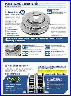 Rear Drill Slot Brake Rotors And Ceramic Pads Chevy Tahoe Silverado Sierra Yukon
