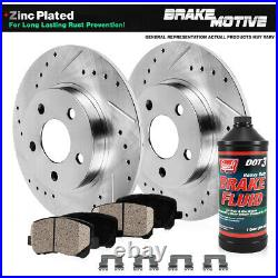 Rear Drill Slot Brake Rotors And Ceramic Pads For 300 300S Charger Magnum RWD
