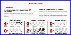 Rear Drill Slot Brake Rotors And Ceramic Pads For Ford Edge Explorer Flex Taurus