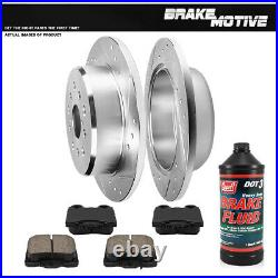 Rear Drill Slot Brake Rotors And Ceramic Pads For Lexus GS300 GS400 IS300 SC430