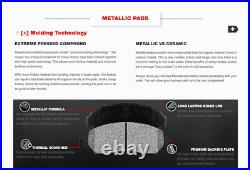 Rear Drill Slot Brake Rotors And Metallic Pads For Aspen Durango Dodge Ram 1500
