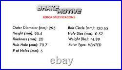 Rear Drill Slot Brake Rotors + Ceramic Pads For Chevy S-10 Blazer Jimmy Bravada