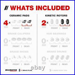 Rear Drill Slot Brake Rotors & Ceramic Pads For Hyunda Azera Sonata Kia Optima