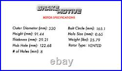 Rear Drill Slot Brake Rotors & Ceramic Pads For Silverado Suburban Sierra 2500