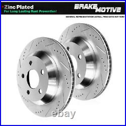 Rear Drill Slot Brake Rotors For 2013 2014 Ford Mustang Shelby GT500 S197