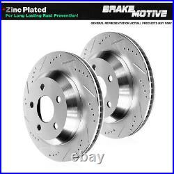 Rear Drill Slot Brake Rotors For 94 95 96 97 98 99 00 01 02 03 04 Ford Mustang