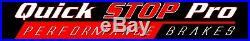 TOY030F Tacoma 05-17 6Lugs Performance Front Brake Rotors Cross Drill+Curve Slot