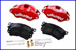 Wilwood Red Front & Rear Drilled Slotted Disc Brake Kit with Black Booster & M/C